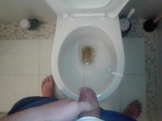 Me pissing at home