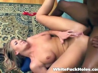 Holy fucking shit.. this is interracial hardcore at its very best.. hot blonde craving black cock like a freaking nympho.