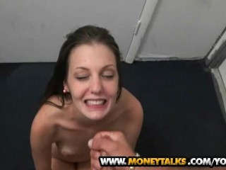 Shy cutie Alexis gets a very hard pussy pounding