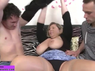 Busty milf fucks 2 young boys – FindMatures