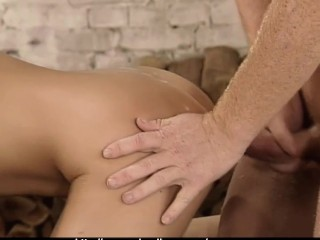 Hot Euro-Babe fucked by 2 guys