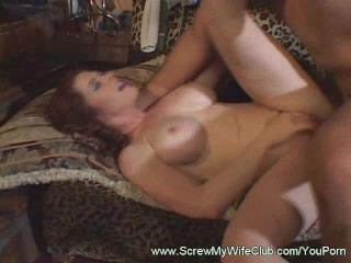 Horny Wife Sucking and Riding a Hard Dick