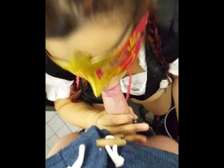 German student amateur couple fucking in public toilet