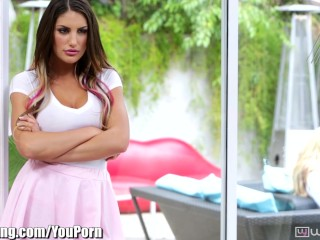 WebYoung August Ames Lesbian Step-Sisters 3Some
