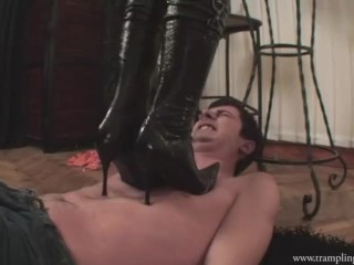 boot and stockings trampling