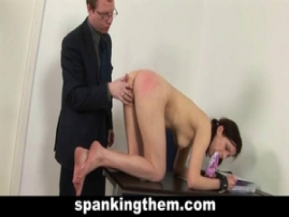 College babe spanked by teacher