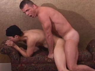 Shy Asian guy just likes to suck dick and cums on my couch
