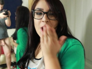 Playin' W/ Daisy Dabs 6: Gamer Girl Latina gets pounded and Cummed on face