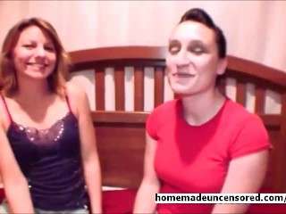 Lesbian Cauple Ashley for the first time with a woman