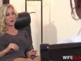 Saucy Wife Katie Morgan Blows & Spreds Her Legs For BBC