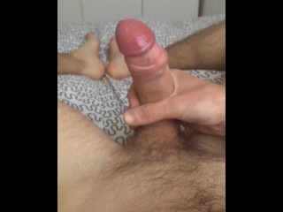 Me masterbating and finishing with a heavy sticky cumshot