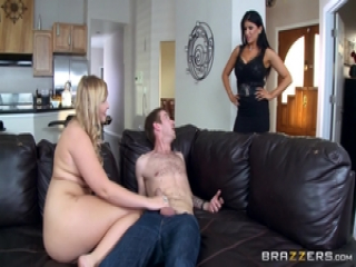 Romi Rain lets Melissa May in on the action with her husband