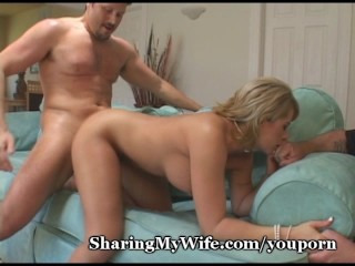 Wet Pussy Shared With Fat Cock