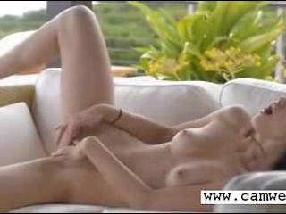 Crazy Russian girl spreading hole