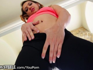 Sara Luvv Can Barely fit his HUGE Black Cock