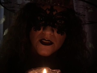 Halloween Scary Witch JOI 60fps, you will CUM in FEAR! Domina HotwifeVenus.