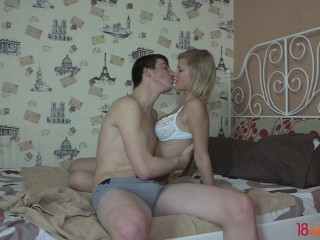 18videoz – In bed with a real teen slut