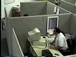 This guy surfes other porn tubesites at work