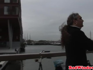 Real dutch hooker treating tourist
