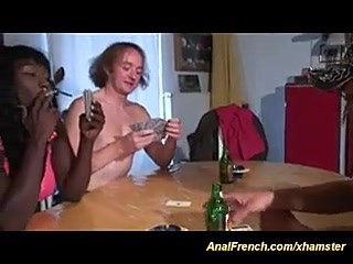 French french african babe loves deep anal