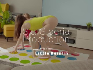 Twister sex party with Little Reislin