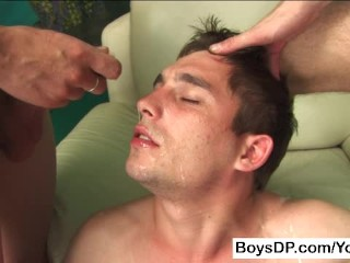 Two Young Cocks in One Tight Ass
