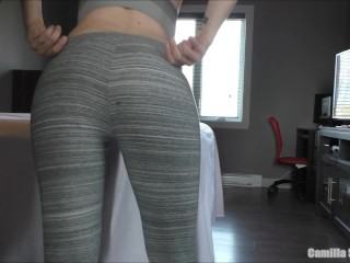 YOUNG MILF OILED UP – Busty PAWG Redhead Cleans Cock After Sex & Creampie
