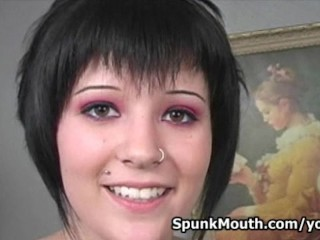 Naughty 18 Year Old Slut Jasmine Loves Big Dick in her Mouth and Pussy