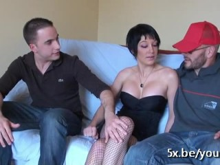 Kenza asked her boyfriend to get fucked in a threesome
