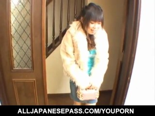 Rin Satomi busty has crack shaved and fucked by sucked stiffy