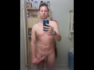 NAKED IN FRONT OF THE MIRROR
