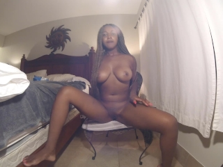Ebony Amateur SQUIRTS and DESTROYS Her Camera!!!