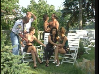Backyard parties with frankfurters included  (CLIP)