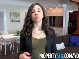 PropertySex – College student fucks hot ass real estate agent