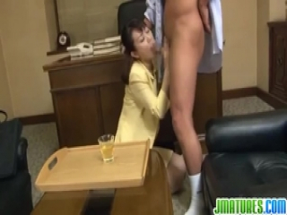 Time for a harsh office cock sucking