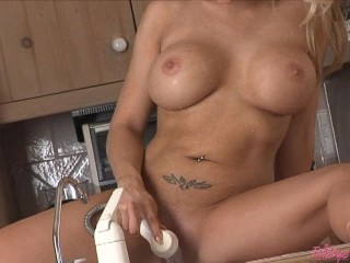 Busty Heather Washes Her Hot Cunt