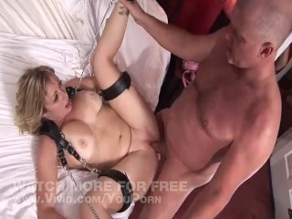 Big Tit Blonde Gets Tied Up And Fucked