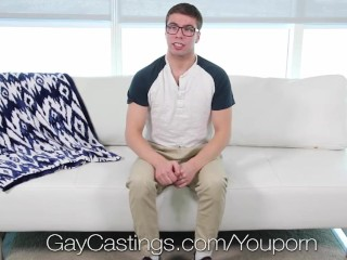 GayCastings Newcomer first fuck with facial with casting agent