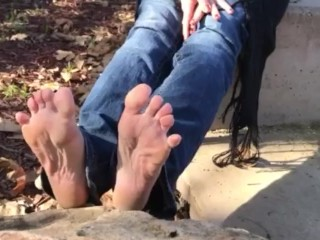 Lovely Nikkie's Feet at the Park Part 4