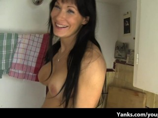 Hot Mom Fucking a Kitchen Counter