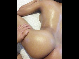 Big Oily Booty and Thigh Massage