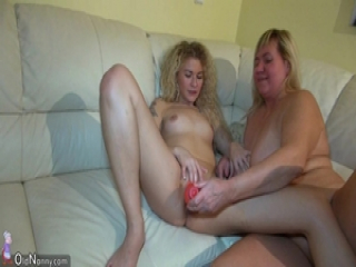 OldNanny Chubby moms teach sex her young daughter