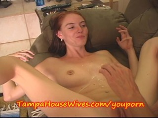 YOUNG COED gets a CREAM PIE from NEIGHBOR