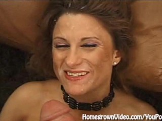 Blonde MILF Gets Four Cocks At Once