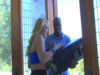 Black-Guy Has A Big Package To Deliver – Combat Zone