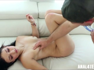 Very Young Teen wants her Ass Fucked by Big Cock