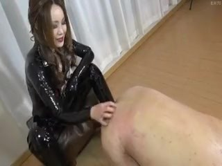 Young femdom rubber latex anal fisting japanese
