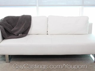 GayCastings Newcomer Sean Cross fucked by casting agent