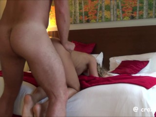 Spanked & Fucked at the Hotel