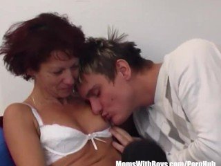 Redhead Mom With Young Stepson Couch Fuck